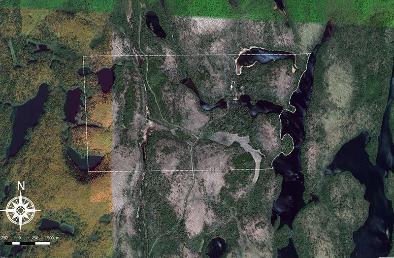 Domaine forestier de chasse avec bâti dans les Laurentides